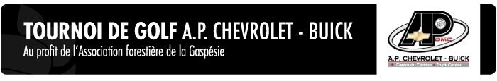 Tournoi de golf AP Chevrolet Buick au profit de l'Association forestière de la Gaspésie
